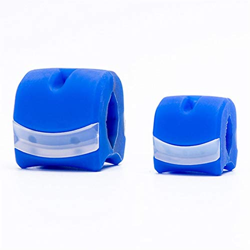 CGUOZI Jaw Exerciser Chew, Facial Toner, Jaw Exerciser and Neck Toning Equipment, Jawline Exerciser, Double Chin Reducer, Face Slimmer and Neck Toning Face Workout (Farbe : Blau, Size : Small)