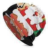 Bokueay Sombrero Hecho Punto Chimenea Unisex de la Feliz Navidad de la Navidad de Santa, Sombrero Que Hace Punto del Estiramiento