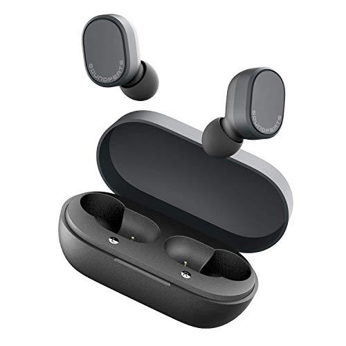 SOUNDPEATS Bluetooth Kopfhörer Sport BT 5.0 Kopfhörer mit Smart Touch Control, Super leicht Mini Ohrhörer in Ear Headset mit One Step Pairing, Mikrofon, ausgezeichnete 7,2 mm Composite Treiber