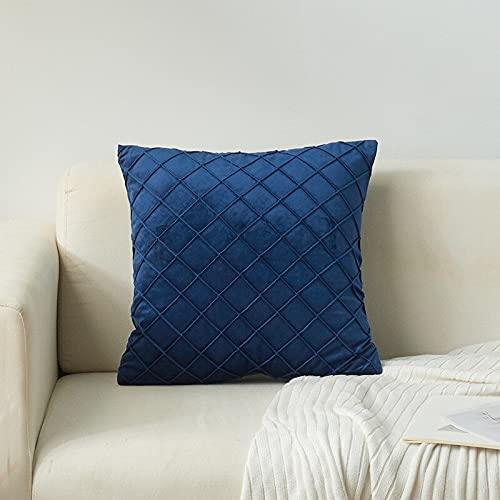 Cojín de silla de terciopelo uso en el hogar de la sala de estar almohada suave color sólido decorativo a rayas cojín para sofá cama silla Xa-13
