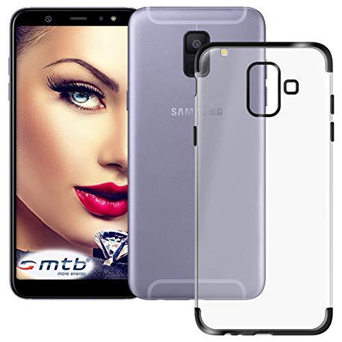 mtb more energy® Schutz-Hülle Elegance für Samsung Galaxy A6 2018 (SM-A600, 5.6'') - schwarz - flexibel - TPU Hülle Cover Tasche
