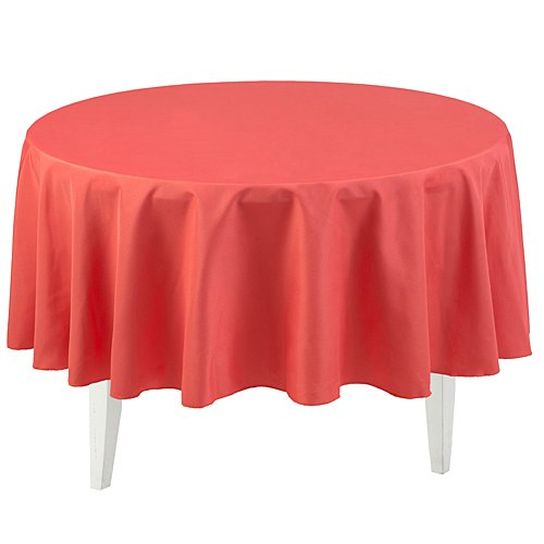 Shindigz Coral Round Polyester Tablecloth