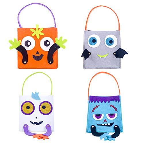 COAFIT 4 STÜCK Halloween SüßIgkeiten Tasche Niedlich Trick Or Treat Tasche Tote Geschenk Tasche