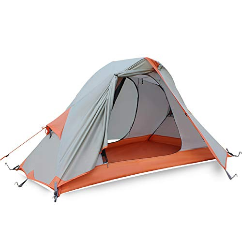 XMH Single Ultralight Camping Tent, 1 Person Backpacking Tent, Anti-Storm And Sand Camping And Riding Equipment, Easy Setup Tent for Outdoor, Hiking Mountaineering Travel,210 * 138 * 110cm