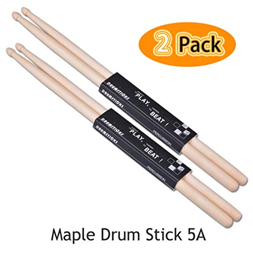 Drum Sticks 5A ACITMEX High Quality 5A Maple Drum Sticks Ellipse Tip...