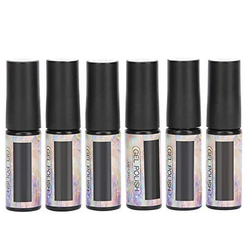 Esmalte de uñas luminoso para manicuristas principiantes, esmalte de uñas UV Gel Oil Herramientas de uñas Esmalte de uñas empapado con gel Luminous Star Color Esmalte de uñas