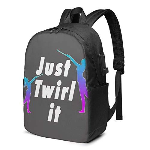 AOOEDM Top Fun Baton Twirling Trendy Travel USB Backpack, 17