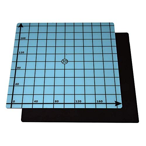 SOOWAY Flex magnetico a due strati Stampa Hot Bed Sticker Costruisci nastro di superficie per stampante 3D Costruisci piano riscaldato compatibile con Ender 3 (220x220mm)