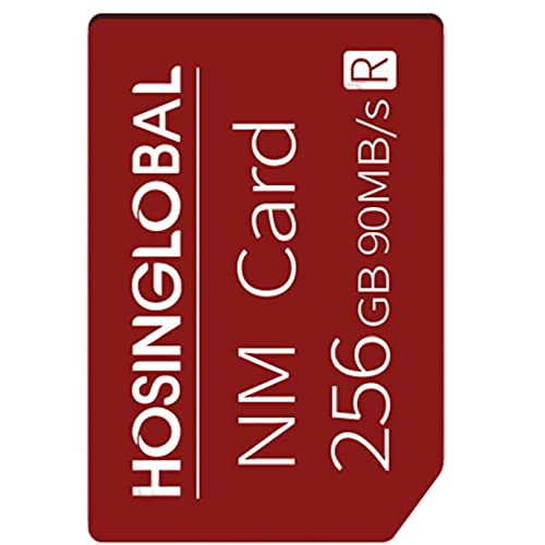 Tarjeta de memoria del teléfono 256G NM Micro SD Tarjeta Teléfono móvil Tarjeta de expansión Compatible con Huawei Smart Phone Red Communication Electronics