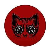 EvolveFISH Circle A for Atheist Cat Bumper Sticker - [5' Diameter]