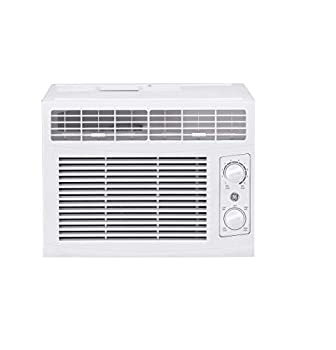 GE 5,000 BTU Mechanical Window Air Conditioner Cools up to 150 sq Ft Easy Install Kit Included White
