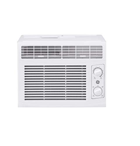 GE 5,000 BTU Mechanical Window Air Conditioner, Cools up to 150 sq. Ft, Easy Install Kit Included, White