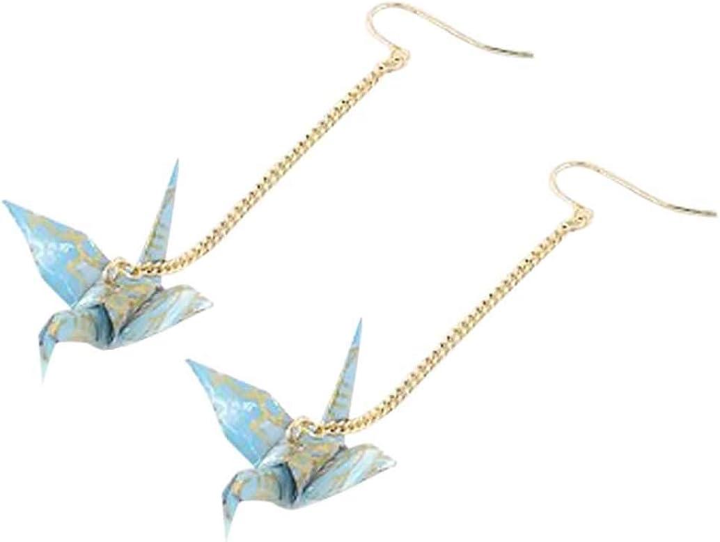 CutieJewelry Origami Crane Bird Dangle For Women or Girls Cute Pretty Earrings