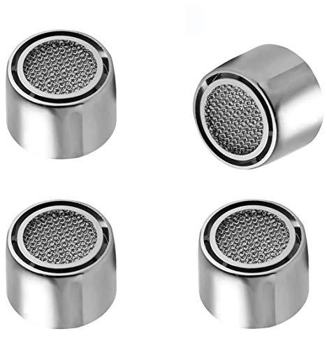 4 unidades Atomizador Ecológico de Agua, Filtro Grifo Universal para Cocina/Baño, Ahorra Agua-22mm (Hembra)