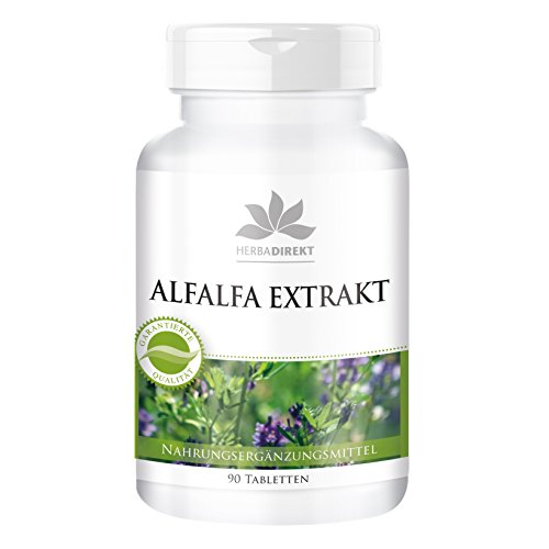 Alfalfa Tabletten - Alfalfa Extrakt 4:1 (Medicago sativa) - 90 Tabletten