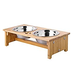 Image of FOREYY Raised Pet Bowls for...: Bestviewsreviews