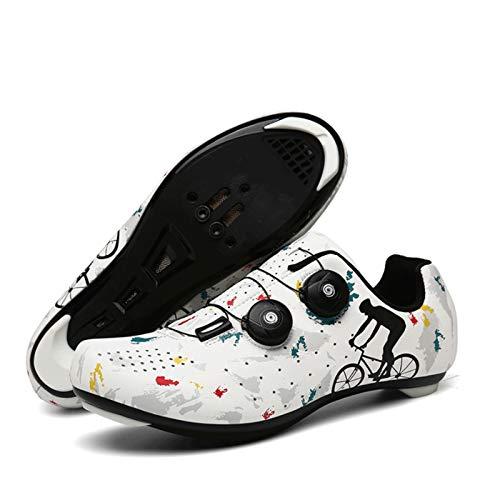 Calzado de Ciclismo para Hombre Zapato de Spinning para Bicicleta de Carretera con SPD Zapatos Peloton para Hombres Zapatos de Bicicleta con Pedal de Bloqueo