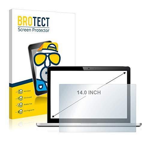 BROTECT Entspiegelungs-Schutzfolie für Notebooks mit (14 Zoll) [310 mm x 175 mm, 16:9] Displayschutz-Folie Matt, Anti-Reflex, Anti-Fingerprint
