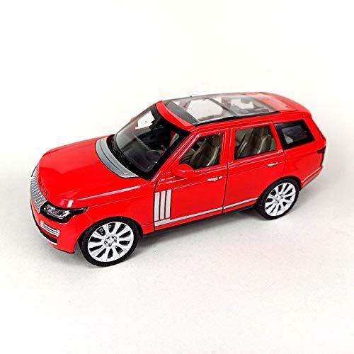 NMBD 1:24 Modelo De Coche De Aleación para DieCast SUV L = 18Cm Puertas Abiertas Colección De Diseño De Luz/Sonido (Color : Red, Size : 1)