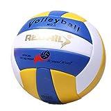Voleibol con inflador, tamaño 5 pelota de voleibol interior al aire libre, suave al tacto, voleibol de playa para competición, juego de entrenamiento deportivo, bola de voleibol espesa