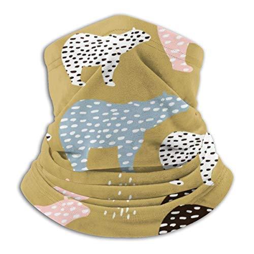 Asdah model zonder naaien, voor vakantie, met ijsberen, handgetekende modieuze afzuigkap van zacht molton, voor de hals