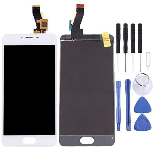un known Reemplazo Compatible Pantalla LCD y Montaje Completo de digitalizador para Meizu M3S / Meilan 3s Accesorio (Color : White)