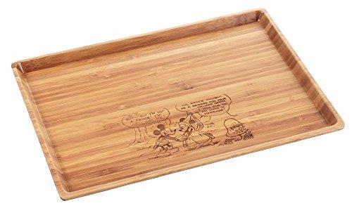 パール金属ディズニー 竹製 食器 角型プレート Lサイズ ミッキーマウス MA-1626