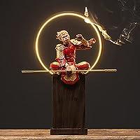陶磁器の装飾品、孫悟空、手作り、逆流香、中国風、家の装飾,B