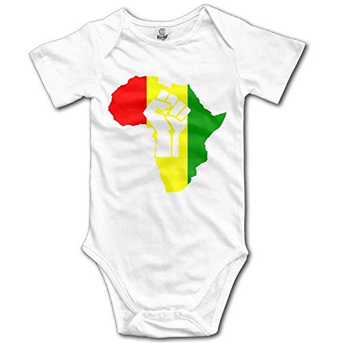 RTGreat Newborn Baby Outfit Creeper Short Sleeves Jumper - African Black Power Body bébé