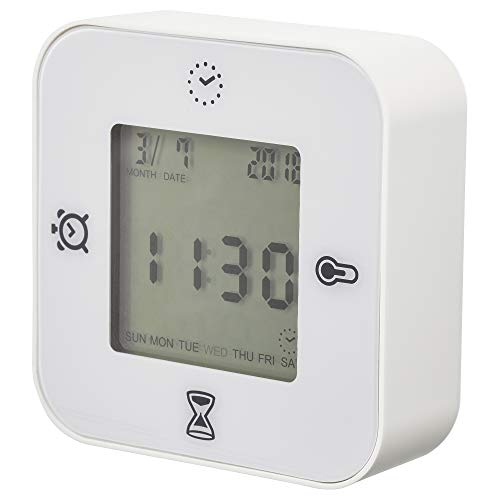IKEA(イケア) KLOCKIS 時計 温度計 アラーム タイマー ホワイト