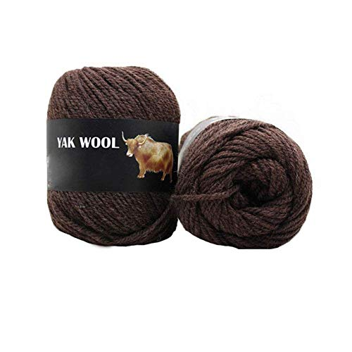 600gram Worsted Blended Middle Thick Thread Soft Dark Brown Yak Wool Cashmere Yarn Crochet Hand Knitting Sacrf Sweater Socks Yarn