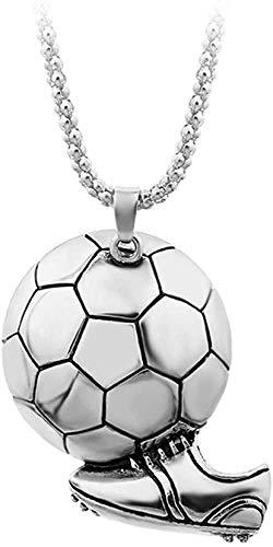 NC188 Colgante de Zapato de fútbol Deportivo para Hombre Collar de aleación de Color Dorado Collar de Cadena de joyería Masculina de Atleta 60 cm Collares