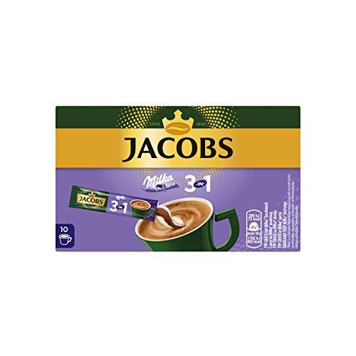 Jacobs Kaffeespezialitäten 3 in 1 Milka, 120 Sticks mit Instant Kaffee, 12 x 10 Getränke, 2.16 kg