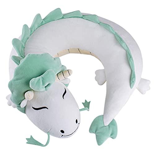 DRACA Anime Merch Anime Kawaii Plushies Dragon Cojín cervical Plush Merchandise Peluche Pusheen de viaje, cojín de anime, cojín de viaje, cojín de anime, dulce dragón, peluche, peluche