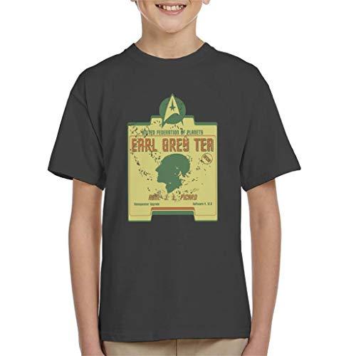 Earl Grey Thee Admiraal Jean Luc Picard Star Trek Parodie T-shirt voor kinderen