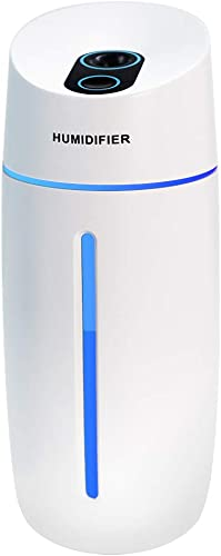Humidifier,Afloia Mini USB Humidifier, Small Personal Humidifier with 7-Colors Light, Two Gear Timing, Super Quiet, P...