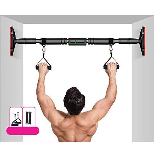 DFJU Barra Horizontal, Equipo de Fitness portátil sin Perforaciones para el hogar, Equipo de Fitness de Entrenamiento de dominadas multifunción