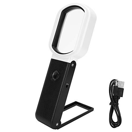 FECAMOS Lupa, Lupa LED Fácil De Usar, Eje De Rotación De 90 Grados, Portátil para Laboratorio