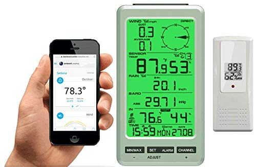 Ambient Weather WS-50-F007TH WiFi Smart Weather Station Receiver w/Outdoor Thermo-Hygrometer