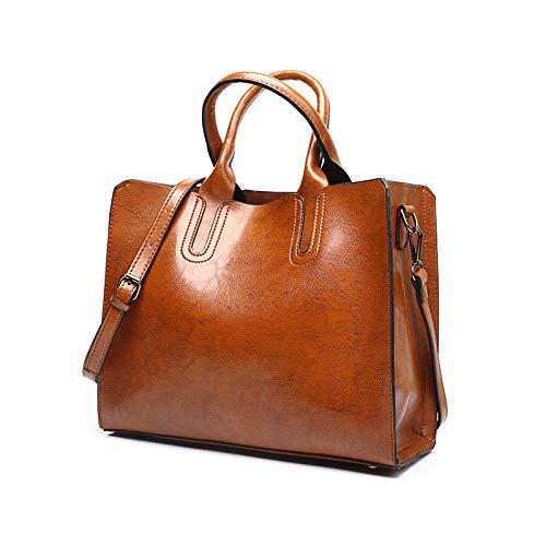 Damenhandtaschen im Herbst und Winter, modische Tragetaschen, Schultertaschen mit großem Fassungsvermögen, 33 x 28 x 13 cm, zum Einkaufen, Feiern und für...