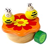 I'm Wooden Music Box Mechanism - Rock n Roll Dancing Bug on Flower Playing Minuet No.3 for Kids (Bee)