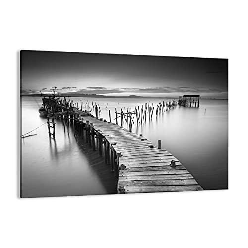 Cuadro sobre lienzo - Impresión de Imagen - mar puente paisaje naturaleza - 70x50cm - Imagen Impresión - Cuadros Decoracion - Impresión en lienzo - Cuadros Modernos - Lienzo Decorativo - AA70x50-3082