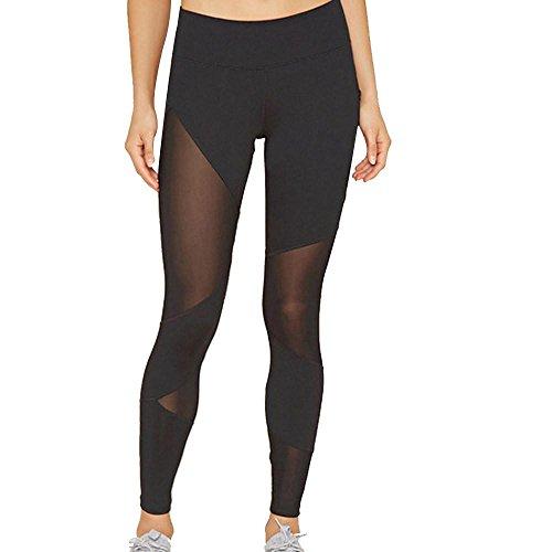 Hosen Damen,Dasongff Damen Hohe Taille Yogahose Mesh Sports Leggings Yoga Running Fitness Leggings Pants Athletic Hosen Bleistifthosen Sommer