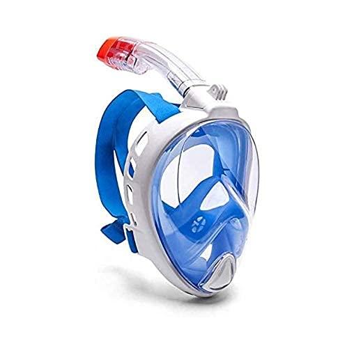 Beirich Máscara de Snorkel de Cara Completa, Vista panorámica de 180 Grados Anti-Niebla Anti-Fugas Engranajes de Snorkel, Juego de Snorkel, Muy Adecuado para entusiastas de Buceo (Negro)