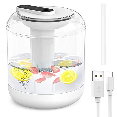 Luftbefeuchter leise USB Luftbefeuchter 1000ml für Schlafzimmer, automatische Abschaltung Top-Füllung Humidifier mit Nachtlicht für baby Schlafzimmer, Kinderzimmer, Büro