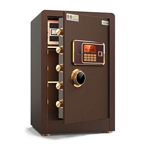 XiYou Caja Fuerte de Seguridad, Oficina, Todo Acero, Huella Dactilar, contraseña, gabinete, Pared antirrobo, 60 CM, casa pequeña (Oro, 38 * 34 * 60 cm)