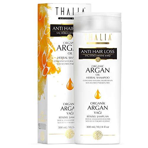 Thalia Natural Beauty - Bio Arganöl Shampoo 300 ml - für mehr Glanz & Volumen | frei von SLES, SLS, Salze und Parabene | VEGAN |