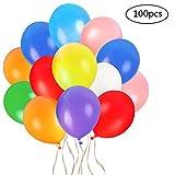 Faburo 100pcs Bunte Luftballons Latex Partyballon Dekoration Ballons für Geburtstag