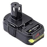 FUNMALL 18V 2.5Ah Litio Reemplazo para Ryobi Batería ONE + RB18L25 RB18L13 RB18L50 RB18L40 P102 P103 P104 P105 P106 P107 P108 con Indicador de Carga