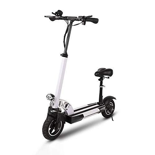 FUJGYLGL Portátil Scooter eléctrico, Cuerpo de aleación de Aluminio, de Gran Capacidad de la batería, Plegable, con función de iluminación, Freno de Disco, el Rendimiento de frenado Fuerte